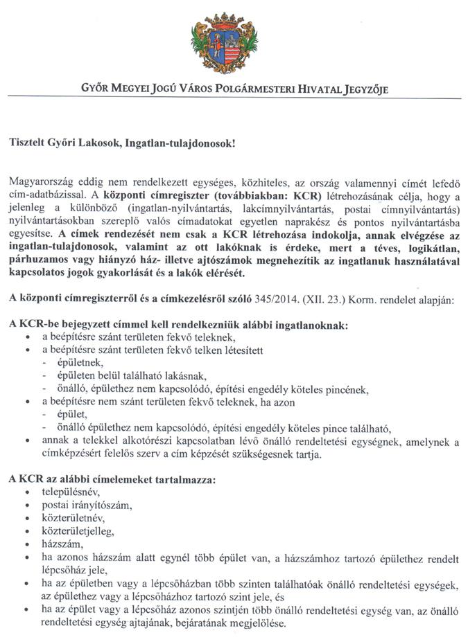 5617dbf7a1 Felülvizsgált címek - Győr Megyei Jogú Város Honlapja